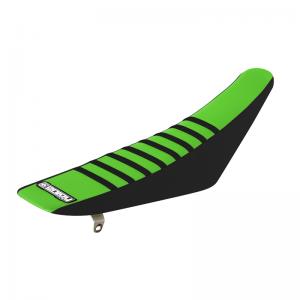 Sadelöverdrag Enjoy Kawasaki Svart och Grön med Svarta ribbor
