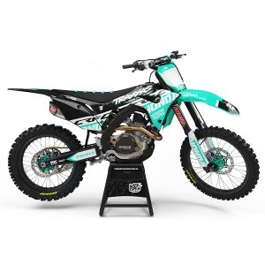 Dekaler High-Cut Series Teal Honda - Svmx.se