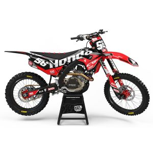 Motocross Dekaler Cream Series Red Honda - Svmx.se