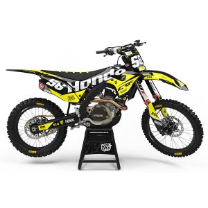Motocross Dekaler Cream Series Yellow Honda - Svmx.se