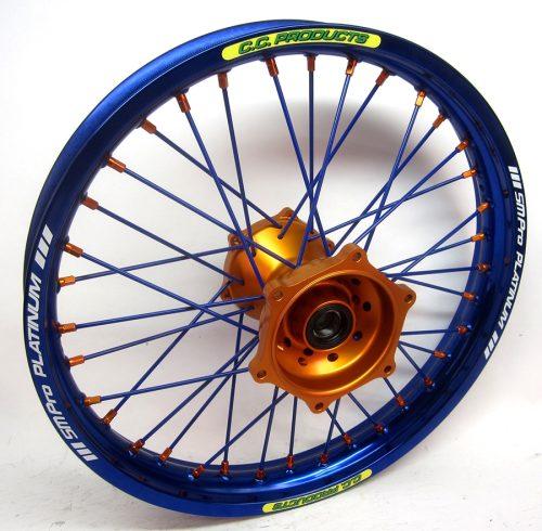 Crosshjul - Komplett Bakhjul Excel CC Products MX - KTM Blå orange