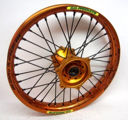 Crosshjul - Komplett Bakhjul Excel CC Products MX - KTM orange