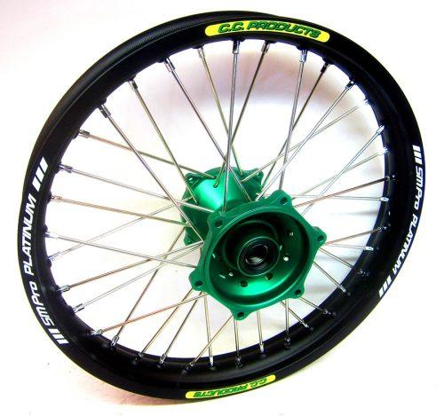 Crosshjul - Komplett Bakhjul Excel CC Products MX - Kawasaki KXF - Svart grön