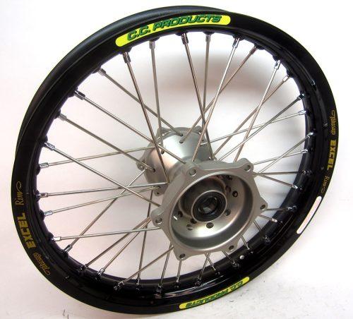Crosshjul Komplett Bakhjul Excel CC Products MX - Yamaha YZF svart silver