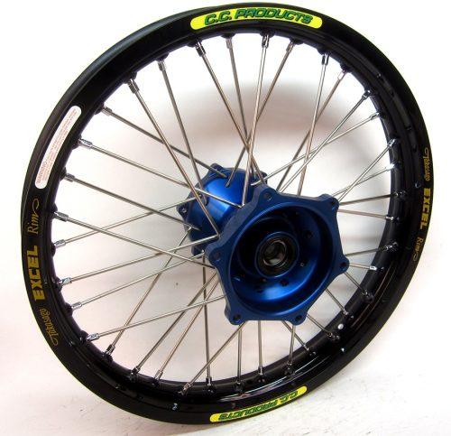 Crosshjul - Komplett Bakhjul Excel CC Products MX - Yamaha, svart silver blå