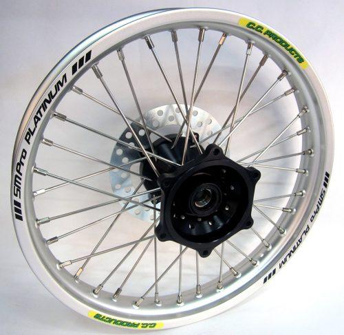 Crosshjul - Komplett Bakhjul Excel CC Products MX - silver svart KTM