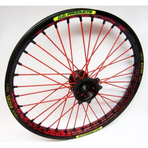 Crosshjul - Komplett Framhjul Excel CC Products MX - Svart,svart,röd,svart - Svmx.se