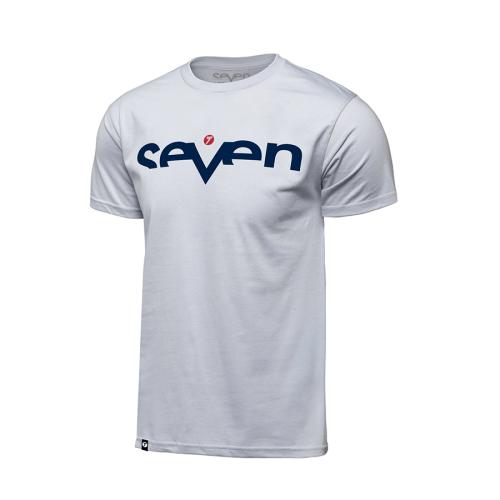 T-shirt Seven Brand Vit-Navy