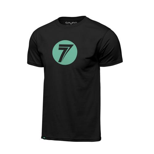 T-shirt Seven Dot Svart-Mint